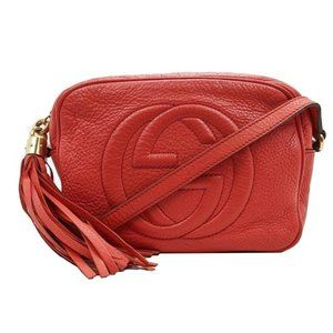 Gucci Disco Light Red Leather Crossbody Bag